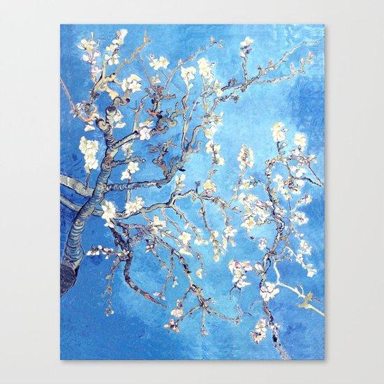 Vincent Van Gogh Almond Blossoms. Turquoise Canvas Print