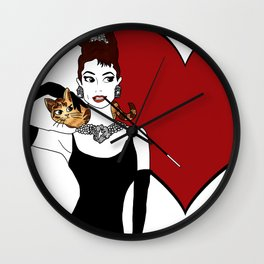 love from holly and cat Wall Clock