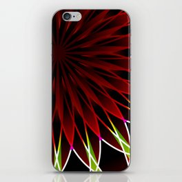 Neon flower mandala iPhone Skin