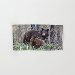 Sow & cub in Jasper National Park | Canada Hand & Bath Towel