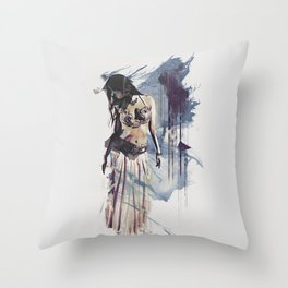 Bellydancer Abstract Throw Pillow