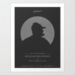 Michigan Wolverines Game Day Poster - Week 1 Art Print