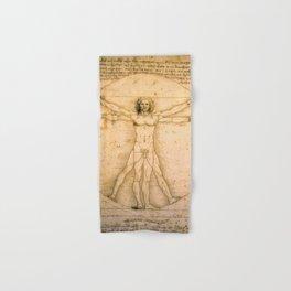 Vitruvian Man by Leonardo da Vinci Hand & Bath Towel