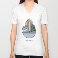 vancouver V-neck T-shirts featuring Vancouver by Ryan Molag Design & Photo