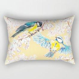 Eurasian tits Rectangular Pillow