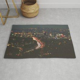 L.A. Skyline Photograph. Stardust Rug