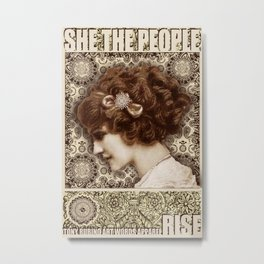 She The People 2 Metal Print