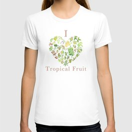 Tropical Fruit Love Heart T-shirt