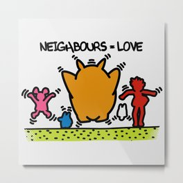 Keith Haring & The neighbours Metal Print