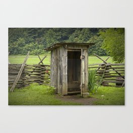 Old Outhouse on a Farm in the Smokey Mountains Canvas Print
