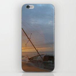 "Sail Boat ""STRANDED SUNRISE""  iPhone Skin"