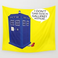 tardis Wall Tapestries featuring Tardis by Elizabeth A
