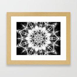 Atomic Black Center Swirl Mandala Framed Art Print