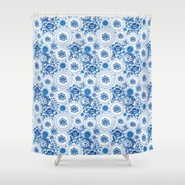 Porta itineri longissima The first step is the only difficulty Shower Curtain