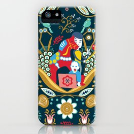 Technological folk art iPhone Case