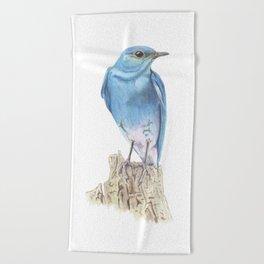 Mountain Bluebird Beach Towel