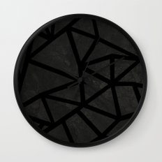 Ab Marble Zoom Black Wall Clock