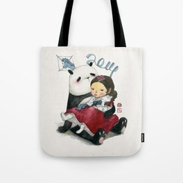 Panda New Year Tote Bag