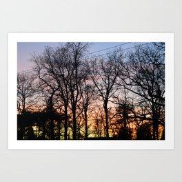 Ranbow Sunset Art Print