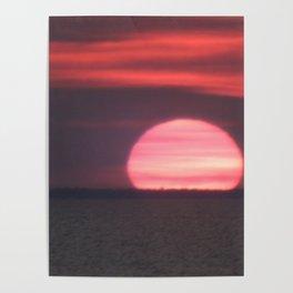 Sundown at Aboiteau Beach Poster