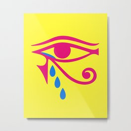 Eye of Horus Tears Metal Print