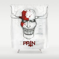 "pain Shower Curtains featuring ""Pain"" by Pastuv"