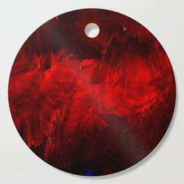 Red And Black Luxury Abstract Gothic Glam Chic by Corbin Henry Cutting Board