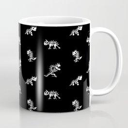 Cartoon Imaginary Dinosaurs Black and White Coffee Mug