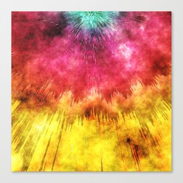 Colorful Textured Tie Dye Canvas Print