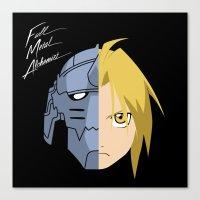 fullmetal Canvas Prints featuring Fullmetal Alchemist/RAM by 5eth