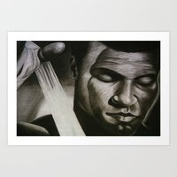 ali Art Prints featuring ALI by John McGlynn