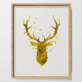 Gold Deer Serving Tray