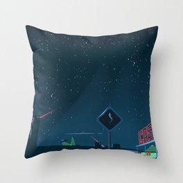 Last Night On Earth Throw Pillow