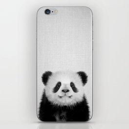 Panda Bear - Black & White iPhone Skin