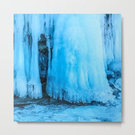 Ice curtain of the lake Baikal Metal Print