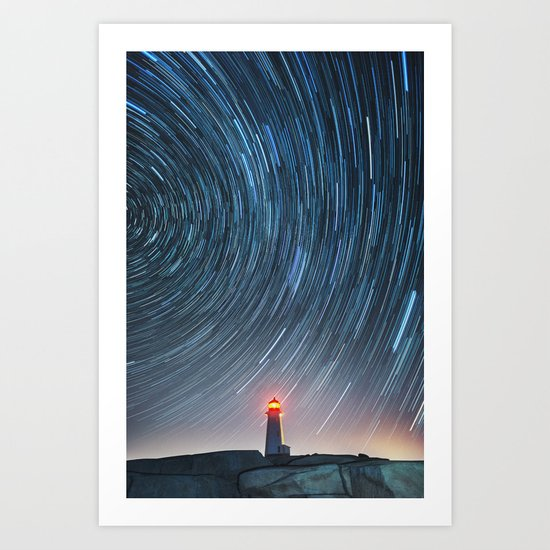 Rotation in the Night Art Print