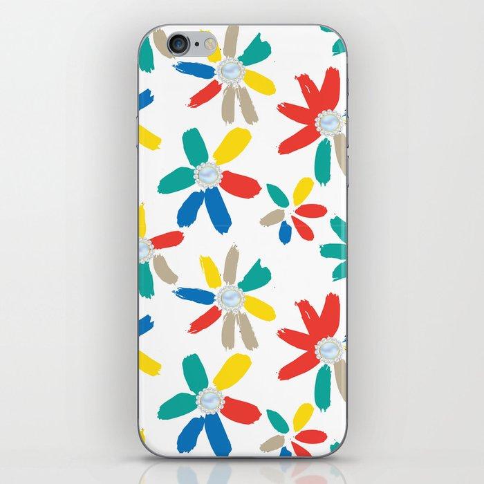 Floral Jewels iPhone Skin