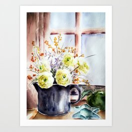Still life with flowers Art Print