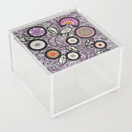 Lovely Flowers Pink Acrylic Box