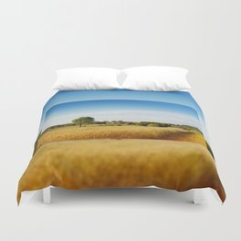Rural wheat field view Duvet Cover