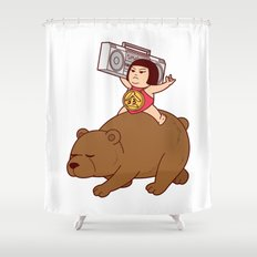 Boombox Kintaro -remake version- Shower Curtain