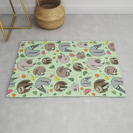 Sloth Party Rug