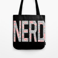nerd Tote Bags featuring NERD. by FOREVER NERD