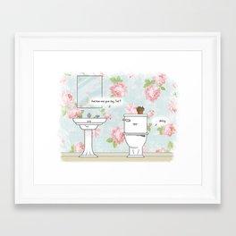 Bathroom Wall Art - Toilet Pun Housewarming Gift Framed Art Print