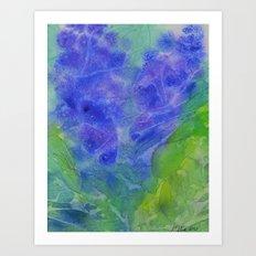 Abstract Blue Flower Art Print