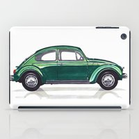 volkswagen iPad Cases featuring Volkswagen Beetle by BSJC Automotive Art