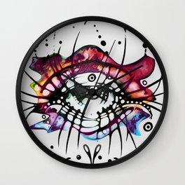 """Pop Art Eyelashes"" Wall Clock"