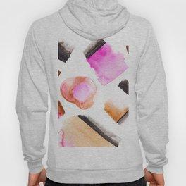 Modern pink brown abstract watercolor painting Hoody