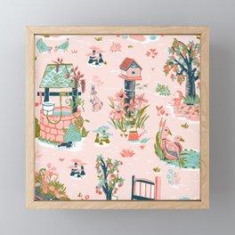 English Garden Framed Mini Art Print