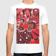 Abstract 28 MEDIUM Mens Fitted Tee White